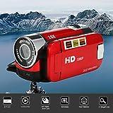 Iusun DV Camera HD 1080P Handheld Digital Camera 16X Digital Zoom Video Camcorder Cameras (Red)