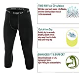 Siboya Men's Compression 3/4 Capri Shorts 2 Pack