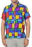 Hawaiian Shirt Men Short Sleeve Aloha Beach Point Collar 1867 Matching_1 XXL Valentines Day Gifts 2017