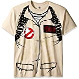 Ghostbusters Men's Venkman Costume T-Shirt, Sand Small