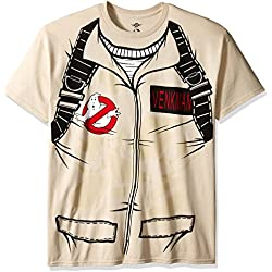 Ghostbusters Men's Venkman Costume T-Shirt, Sand, Large