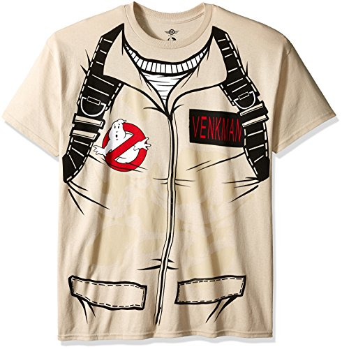 Ghostbusters Men's Venkman Costume T-Shirt, Sand,
