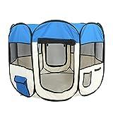 "Super Deal 48"" 600D Oxford Portable Pet Puppy Soft Tent Playpen Dog Cat Crate Pen Light Blue"