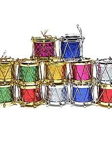 CH y CH Navidad 3 cm tambor tibertano (12 piezas) Set