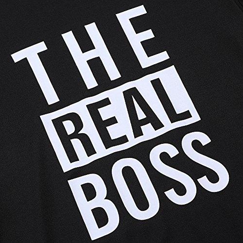 Bangerdei The Boss and The Real Boss Couples T-Shirts Anniversary Newlywed Matching Set Tops Valentines Gifts Black Women L + White Men XL by Bangerdei (Image #3)