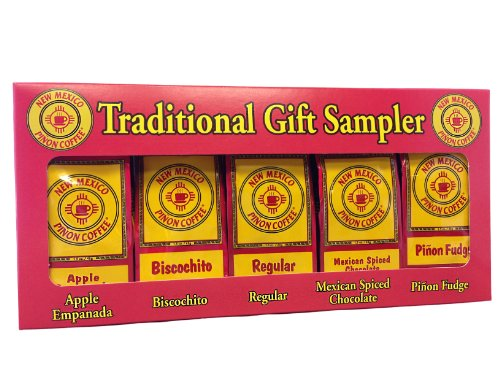 New Mexico Piñon Coffee Traditional Gift Sampler, 5 Count 1.5oz bags