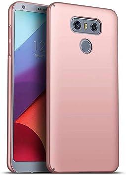 Funda LG G6 Caja Caso MUTOUREN PC Carcasa Anti-Scratch Anti-rasguños Bumper Protectora de teléfono Case Cover para LG G6 (Oro Rosa): Amazon.es: Electrónica