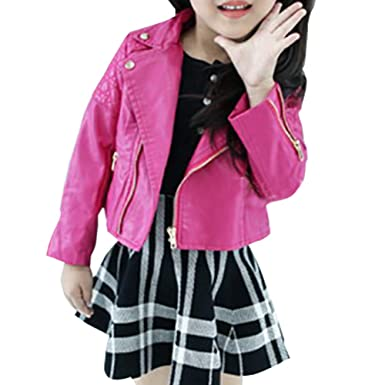 e11958163 MissChild Little Girls Motorcycle Faux Leather Jackets Spring Autumn ...