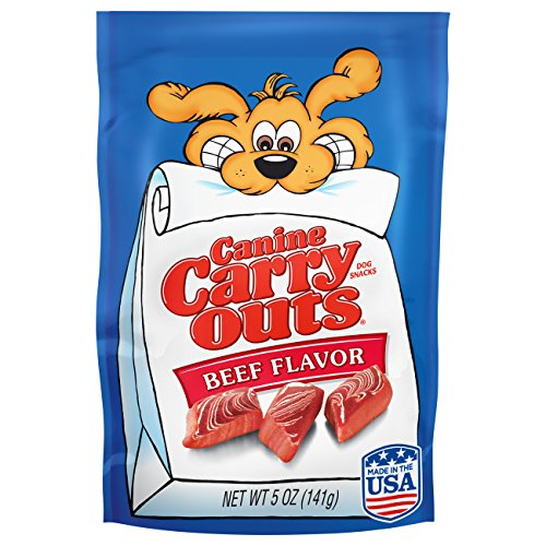 Canine Carry Outs Beef Flavor Dog Treats, 5-Ounce, 12-Pack