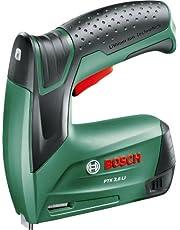 Bosch Akku Tacker PTK 3,6 LI (1000 Klammern, Ladegerät, Metalldose (3,6 V, Klammern 4-10 mm, Schläge: 30 min–1))