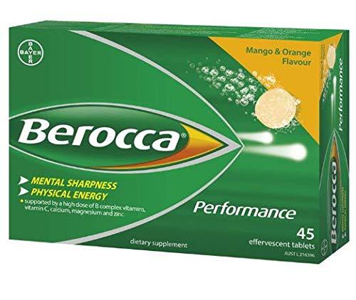 Berocca Mango & Orange 45 Effervescent Tablets 15-Count (Pack of 3) ()