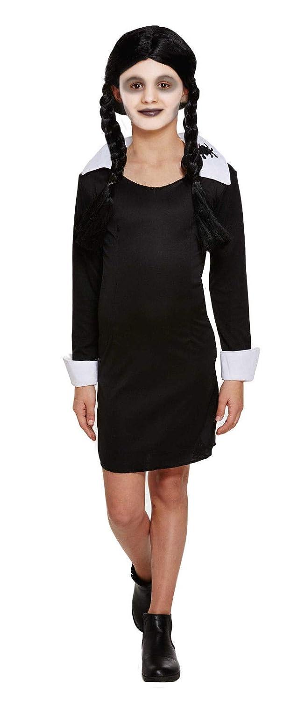 Hi Fashionz Disfraz de niña para Halloween y el miércoles: Amazon ...