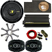 Kicker for Dodge Ram Crew/Quad 02-15 package 10 CompD subwoofer in box w/ grille, CX300.4 amplifier, CS 6x9s w/ amp kit