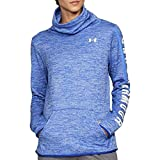 Under Armour Womens Funnel-Neck Printed Fleece Jacket Blue XXS