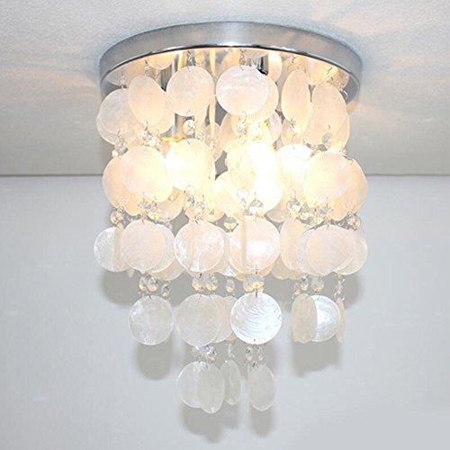 Beautiful up Crystal Shell Pendant Lamp Chandelier Lighting Ceiling Girl's Bedroom Light (White)