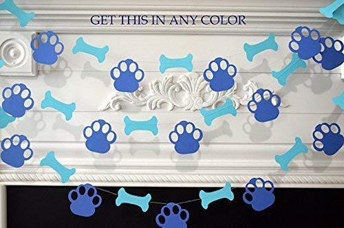 Amazon Puppy Dog Themed Paper Garland Birthday Decorations Party Pawty Bone Paw Print Handmade