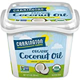 Carrington Farms Gluten Free, Unrefined, Cold Pressed, Extra Virgin Organic Coconut Oil, 12 oz. (Ounce), Coconut Oil For Skin & Hair Care, Cooking, Baking, & Smoothies – Packaging May Vary