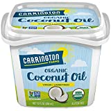 Carrington Farms Gluten Free, Unrefined, Cold Pressed, Virgin Organic Coconut Oil, 12 oz. (Ounce), Coconut Oil For Skin & Hair Care, Cooking, Baking, & Smoothies
