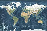World Map Poster - Wall Art - Designed by an Environmental Scientist