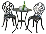 Best Selling Nassau Cast Aluminum Outdoor Bistro Furniture Set (Small Image)