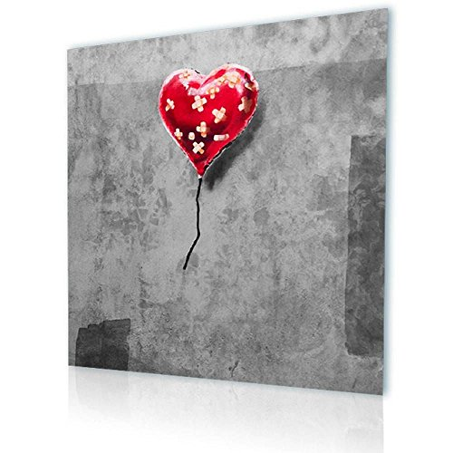 Alonline Art - Balloon Heart Plaster Banksy Print On Canvas (Synthetic, UNFRAMED Unmounted) 12