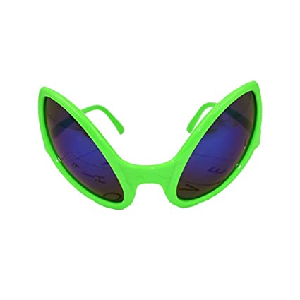 98d2535706 Amazon.com  BESTOYARD Novelty Alien Sunglasses Costume Funny Eyeglasses  Party Accessories (Green)  Toys   Games