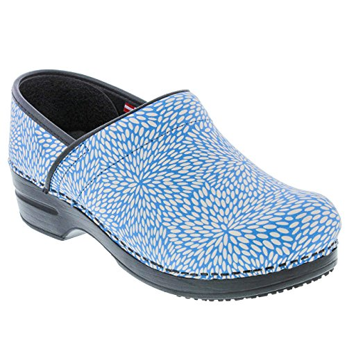 - Sanita Women's Smart Step Pro. Perennial Clog, Blue, 39 M EU (8-8.5 US)