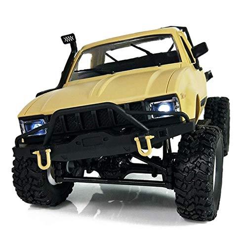 (DishyKooker C14 1:16 Scale 2.4G 2CH 4WD Mini Off-Road RC Semi-Truck RTR Kids Climb Truck Yellow)