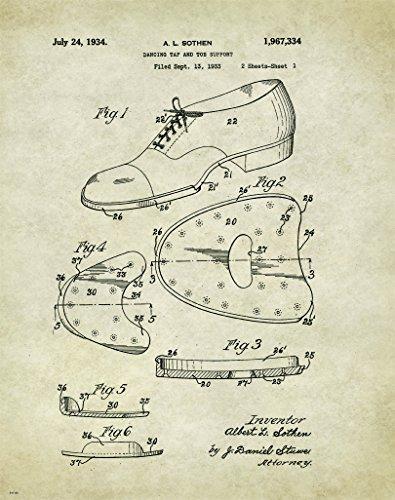 Tap Ballet Shoe US Patent Motivational Poster Art Print Lessons Dance School 11x14
