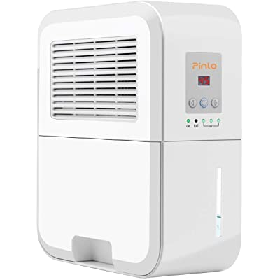 .com - MANZOKU Dehumidifier Electric Mini Dehumidifiers for Home Basements Bathroom Bedroom Closet Wardrobe RV 2200 Cubic Feet (269 sq.ft) Large 2L Tank Smart Control Dehumidifier -