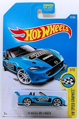 Hot Wheels Mattel Basic Mainline Hw Speed Graphics 9/10 - '15 Mazda MX-5 Miata (Blue) ()