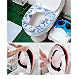 LOHOME(TM) Thicken PU Waterproof Toilet Closestool Mat Seat Cushion Cover Toilet Set Pad (Blue)