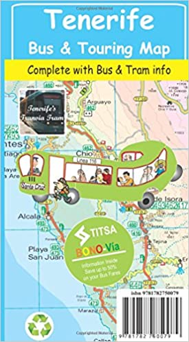 Tenerife Bus & Touring Map: Amazon.de: David Brawn ...