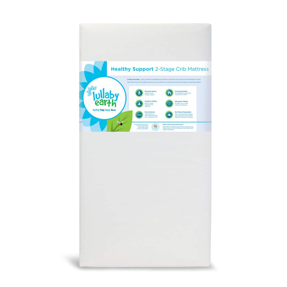 Lullaby Earth Non-Toxic Crib Mattress - 2-Stage Waterproof - Fits Standard Baby and Toddler Bed, Beige by Lullaby Earth