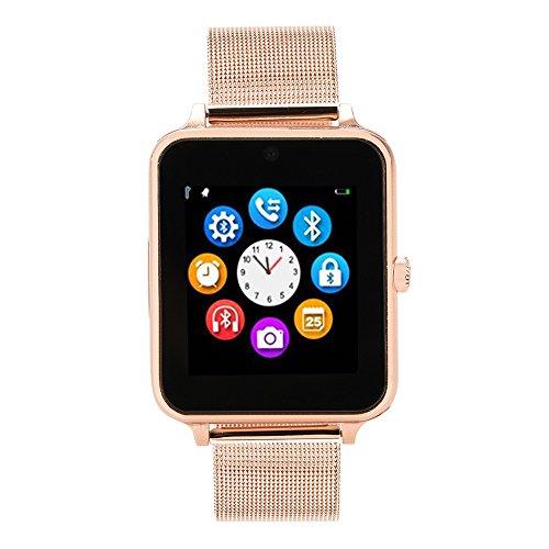 orts Smartwatch, Pedometer/Sedentary Remind/Sleep Monitor/Remote Camera etc Smart Bracelet (Rose Gold) ()