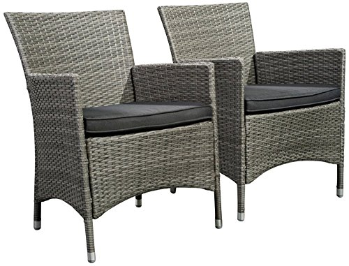 Atlantic Outdoor Arm Chair (Atlantic Liberty All-Weather Wicker Deluxe Patio Dining Chair - Set of 2)