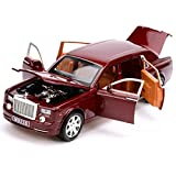 rolls royce model kits - KMT Rolls-Royce Alloy Diecast Car Models Scale Model Plastic Model Kits (Red)