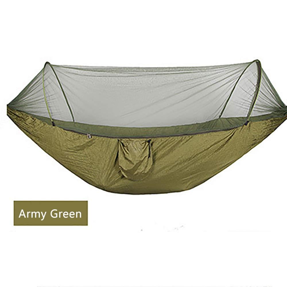 Army vert 250120CM  KCWASD Hamac avec Moustiquaire - Charge 200kg, Hamac De Camping, Adapté Au Camping en Plein Air, Randonnée, Voyage De Pique-Nique (250  120CM    290  140CM)