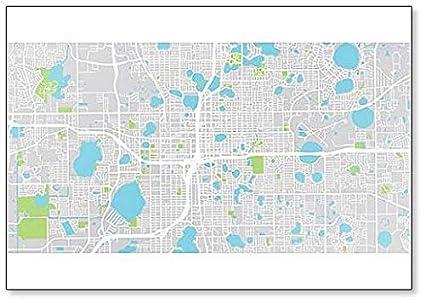 Orlando Florida On Us Map.Amazon Com Urban City Map Of Orlando Florida United States Of