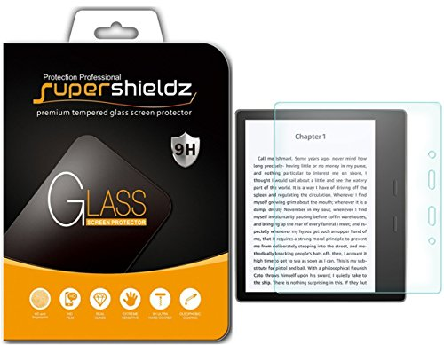 Supershieldz for Kindle Oasis (2017 release) Tempered Glass Screen Protector, Anti-Scratch, Anti-Fingerprint, Bubble Free, Lifetime Replacement Warranty