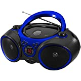 Jensen CD-490 Portable Sport Stereo CD Player with AM/FM Radio and Aux Line-in & Headphone Jack (Blue)