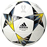 Adidas Performance Champions League Finale Kiev Capitano Soccer Ball, White/Yellow/Blue, Size 3
