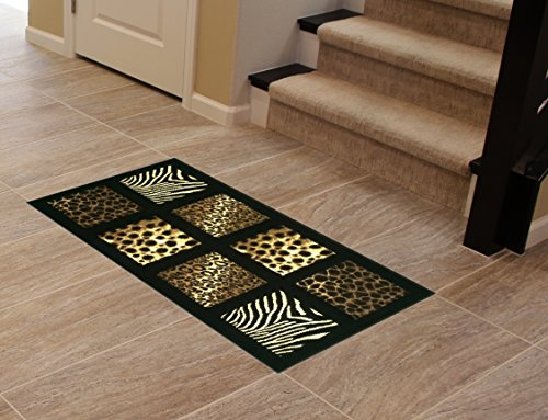 Animal Prints Door Mat 2 Ft. X 3 Ft. 8 in. Black Design 251