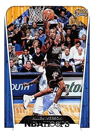 30f7487edb3 2018-19 Panini Hoops #300 Allen Iverson Tribute Philadelphia 76ers NBA  Basketball Trading Card