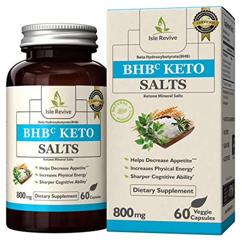Cheap Isle Revive Keto BHB Pills – Premium Grade Exogenous Ketone Beta Hydroxybutyrate Supplement Diet Pills 800mg (30 Day Supply)