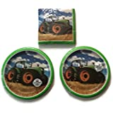 Tractor Time Birthday Party Plates (16) Lunch Napkins (16)