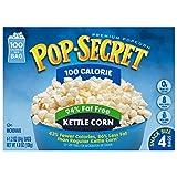 Pop Secret Microwave Popcorn, 100 Calorie 94% Fat Free Kettle Corn, 4 Count (Pack of 12)