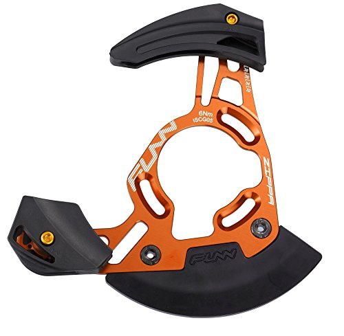 Funn Zippa DH Chain Guide, ISCG05 Interface, BSA Adapter Included (Orange) ()
