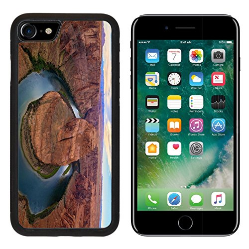 MSD iPhone 7 Case and iPhone 8 Case Protective Silicone Bumper Shockproof Anti-Scratch Resistant Hard Cover IMAGE ID: 32449044 Amazing Vista of Horseshoe Bend in Page Arizona