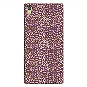 Cover It Up - Brown Purple Pebbles Mosaic Xperia Z5 Dual Hard Case